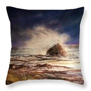 Sea Drama Throw Pillow