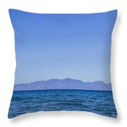 Sea, Earth, Sky Throw Pillow