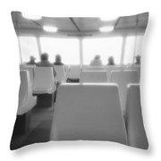 Sea Ferry Ride  Throw Pillow