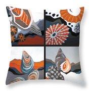 Sea Floor Throw Pillow
