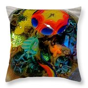 Sea Flower Tidepool 1 Throw Pillow