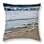 Sea Foam At The Shore Throw Pillow