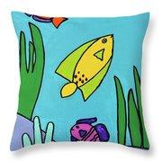 Sea Frolic Throw Pillow