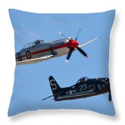 Sea Fury And Bearcat Throw Pillow