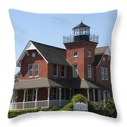 Sea Girt Lighthouse - N J Throw Pillow