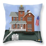 Sea Girt New Jersey Throw Pillow