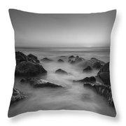 Sea Girt Nj Sunrise Bw Throw Pillow