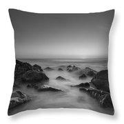 Sea Girt Nj Sunrise Version 2 Bw Throw Pillow