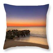 Sea Girt Pilings  Throw Pillow