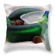 Sea Glass From Bermuda Throw Pillow