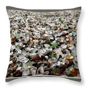 Sea Glass From Mother Nature  Throw Pillow