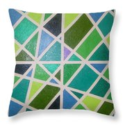 Sea Glass Revisited Throw Pillow