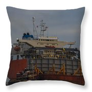 Sea Going Work Throw Pillow
