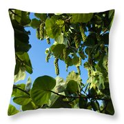 Sea Grapes In Summer Throw Pillow