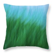 Sea Grass Breeze Throw Pillow