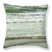 Sea Green Throw Pillow