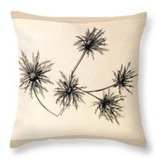 Sea Holly Throw Pillow