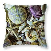 Sea Horse And Sea Star Throw Pillow