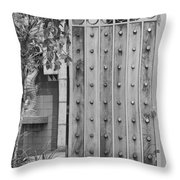 Sea Horse Gate Throw Pillow