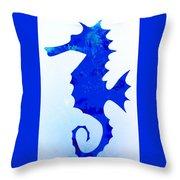 Sea Horse Love 44 Throw Pillow