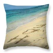 Sea I Love You Throw Pillow