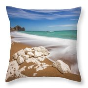 Sea In Motion Throw Pillow