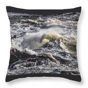 Sea In Turmoil Throw Pillow