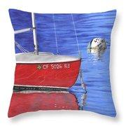 Sea-ing Red Throw Pillow