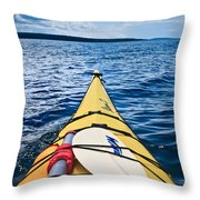 Sea Kayaking Throw Pillow