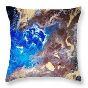 The Sea Kises The Desert Throw Pillow