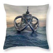 Sea Lab Throw Pillow