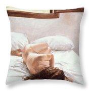 Sea Light On Your Body Throw Pillow by John Worthington