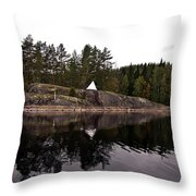 Sea Mark On An Islet At Lake Saimaa Throw Pillow