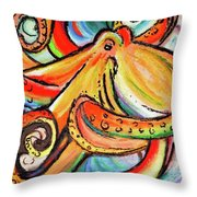 Sea Me Swirl Throw Pillow
