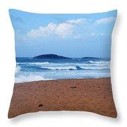 Sea Meets Beach Throw Pillow