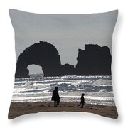 Sea Monster Only Eats Kelp Throw Pillow