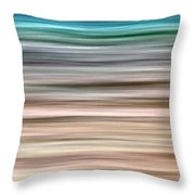 Sea Movement Throw Pillow by Stelios Kleanthous