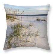 Sea Oats And Blue Sky Throw Pillow