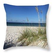 Sea Oats At The Beach Throw Pillow