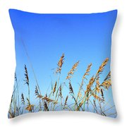 Sea Oats Atlantic Ocean Throw Pillow