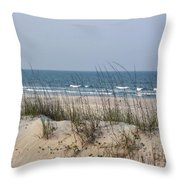 Sea Oats By The Ocean Throw Pillow