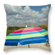 Sea Oats On The Beach Throw Pillow