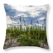 Sea Oats Sand Dune Sky Throw Pillow