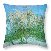 Sea Oats Two Throw Pillow