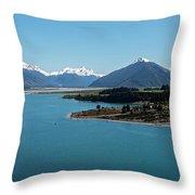 Sea Of Blue Throw Pillow