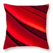 Sea Of Red Throw Pillow