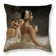 Sea Of White Throw Pillow