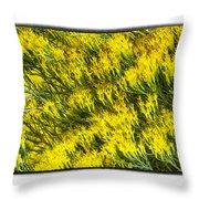 Sea Of Yellow Throw Pillow