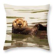 Sea Otter Throw Pillow