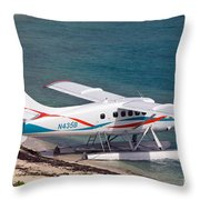Sea Plane At Dry Tortugas National Park Throw Pillow